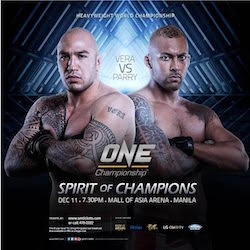 Brandon Vera vs. Chi Lewis-Parry to compete for inaugural ONE Championship Heavyweight Title in December