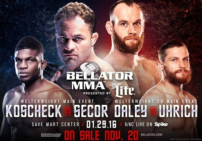 Josh Koscheck and Paul Daley both to fight at Bellator 148 in January