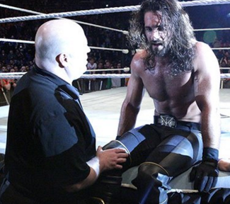 seth rollins knee injury