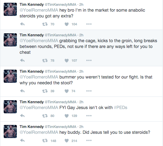 tim kennedy tweet romero