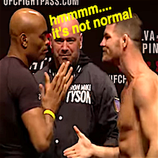 Bisping pulls the ol' handshake trick on Anderson