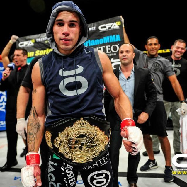 Sean Soriano with a belt