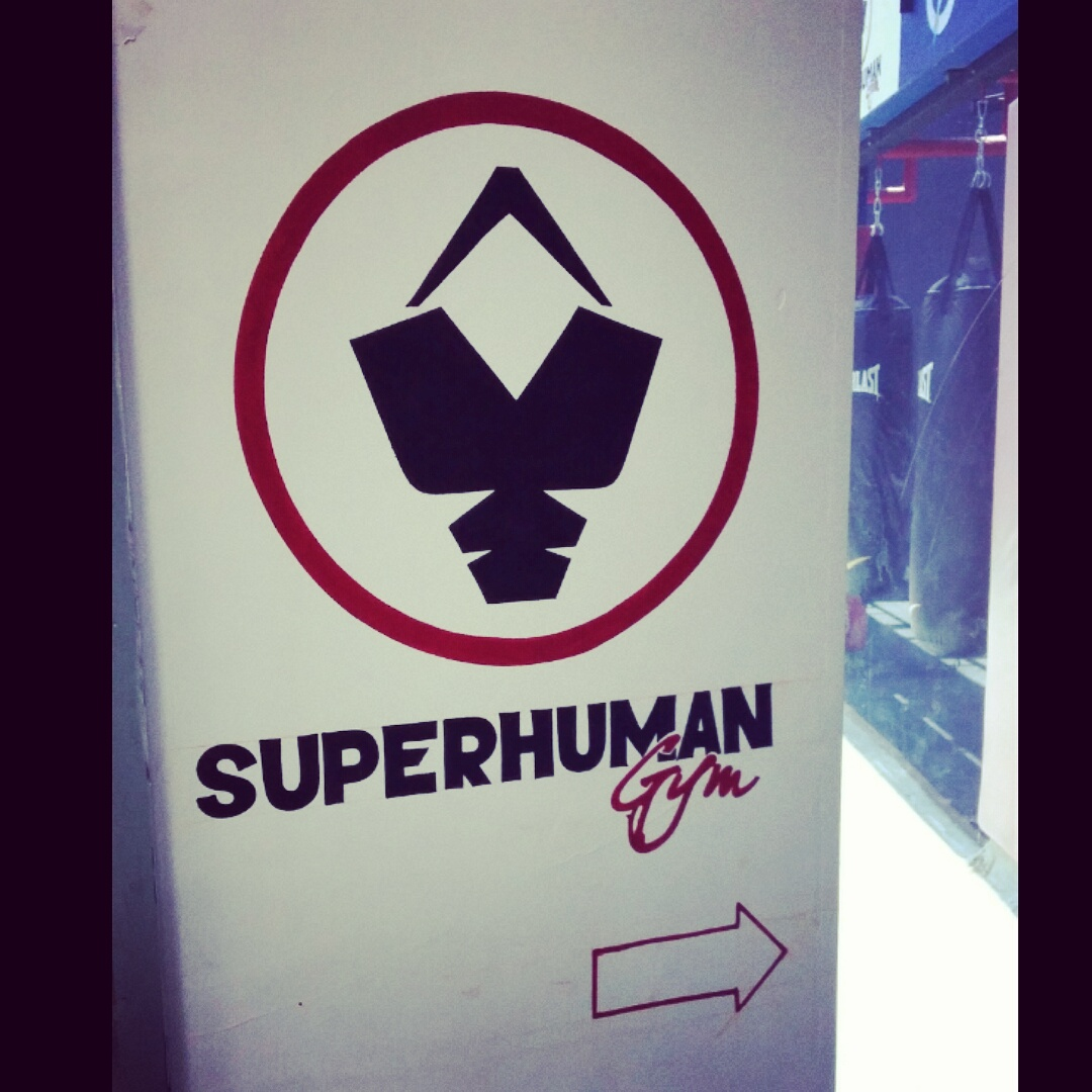 superhuman gym sign