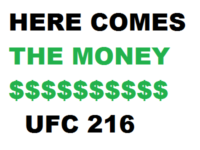 The UFC 216 payouts are topped by Ferguson's $500K, Werdum's $400K