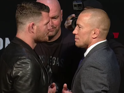 Georges St-Pierre slight favorite over Michael Bisping going into UFC 217
