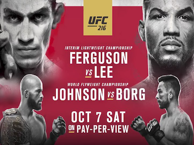 UFC 216 betting odds: Ray Borg biggest underdog on card