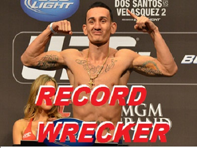 Max Holloway's many UFC records including record featherweight wins